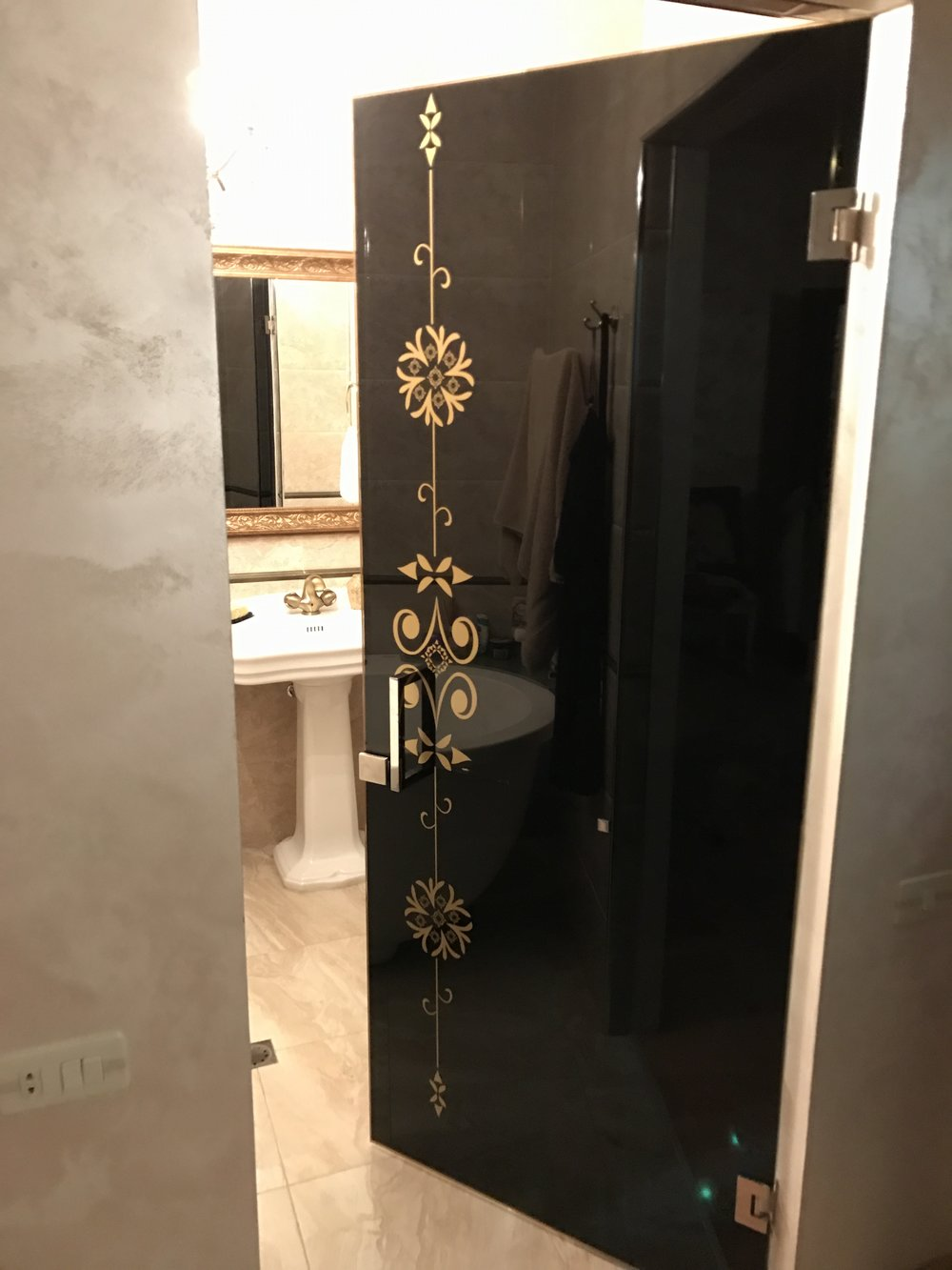 Shower door and radius partition for residential house in Wembley ...