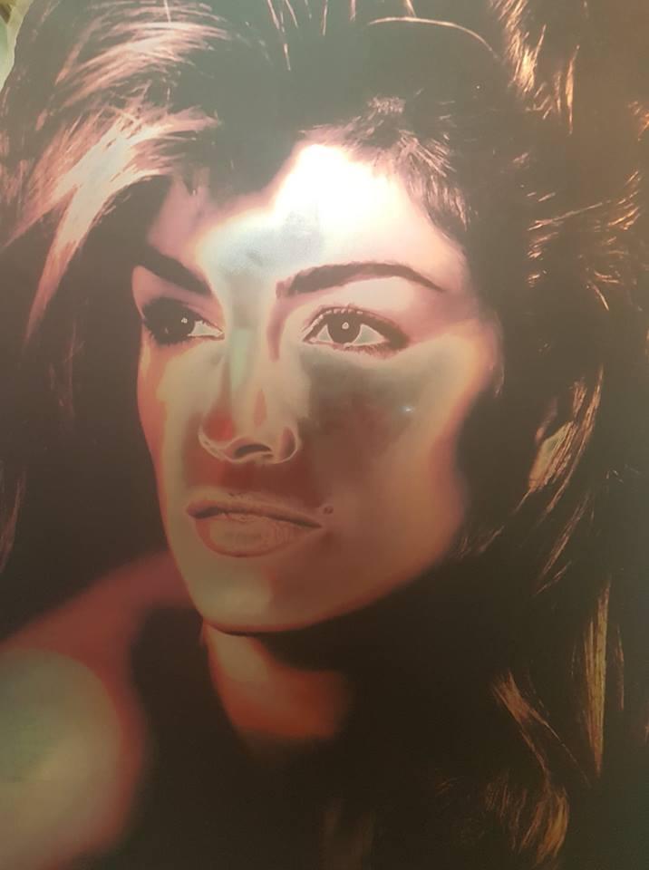 Eva Mendes Print On Iridescent Toughened Mirror
