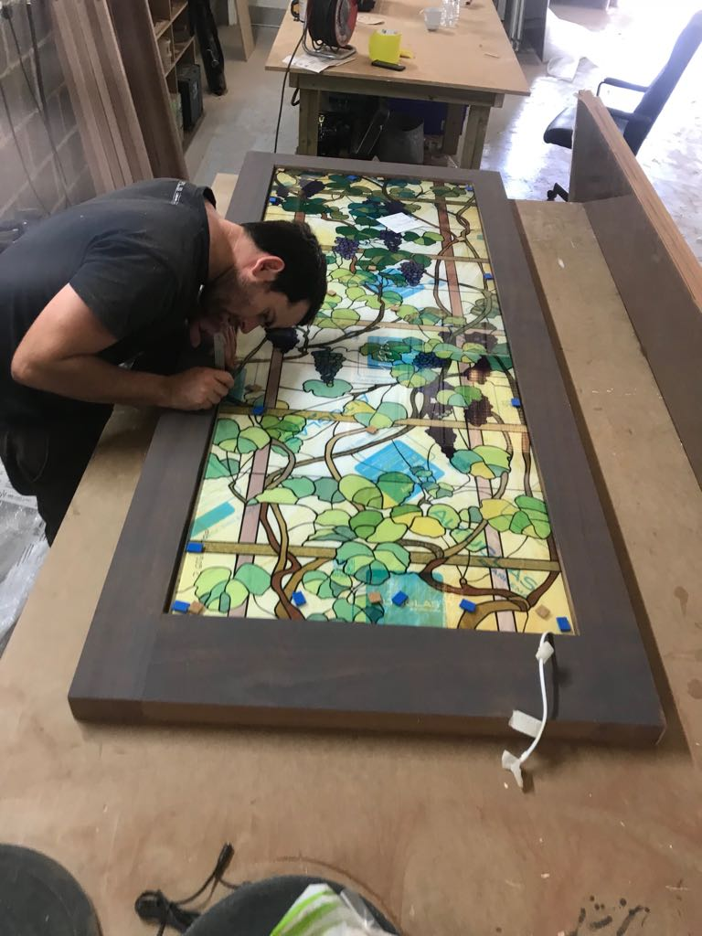 Printed Backlit Stained Glass