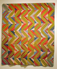 "Unknown maker, Streak of Lightning, c. 1920  Cotton 79""x 67"" Gift of Lucy Hilty SJMQT Collection 2003.306.023"