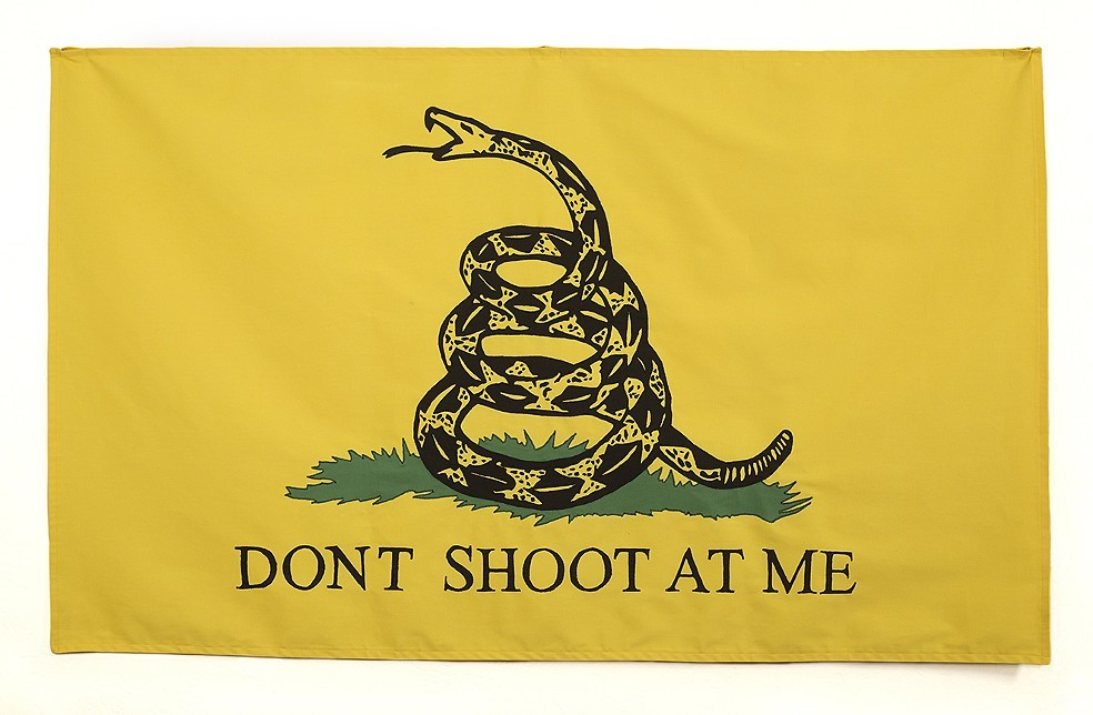 Jen Graham  Don't Shoot at Me , 2017 Image on Fabric 3 x 5'