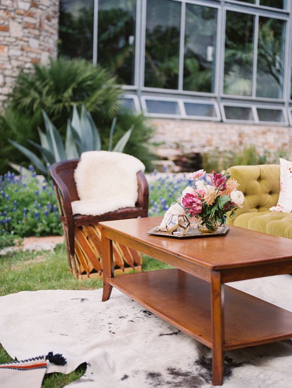 Rustic Lounge Setting in Austin Texas by Highland Avenue Events
