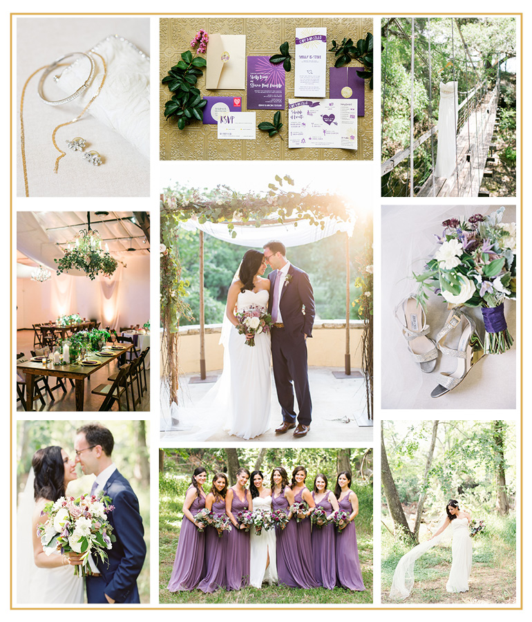 Rustic camp wedding in Austin, TX planned and designed by Highland Avenue Events.