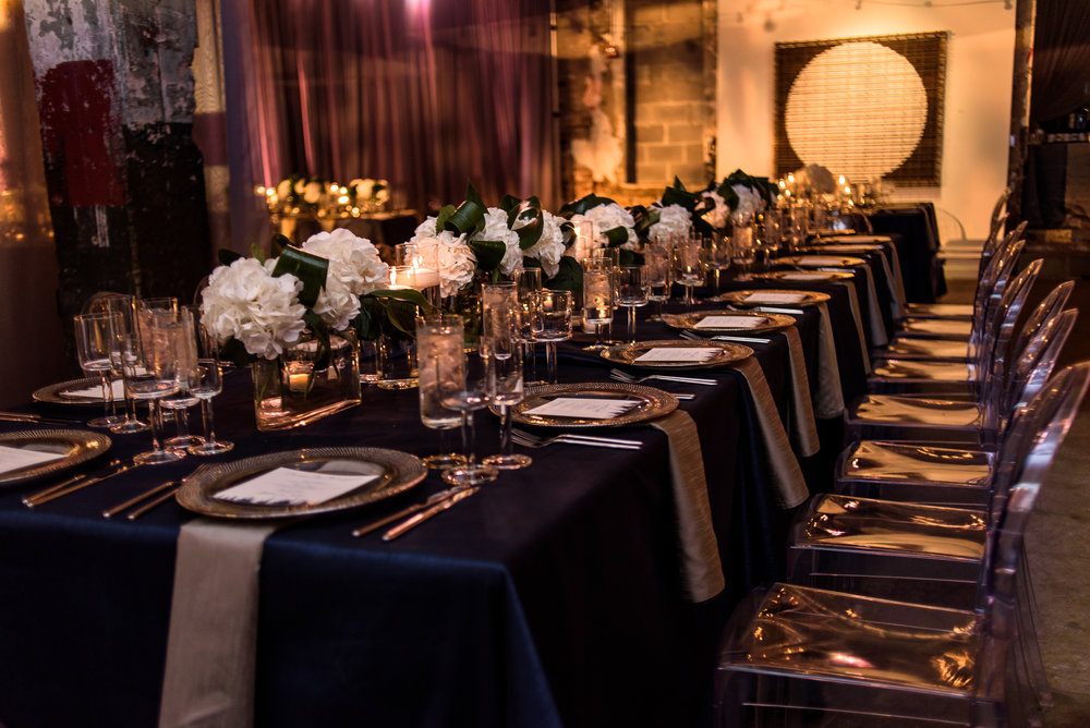 Modern Dramatic Art Wedding by Highland Avenue Events