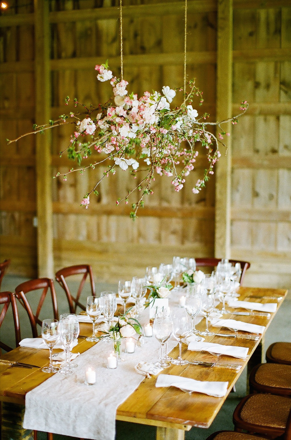 Cherry Blossom Rustic Barn Wedding