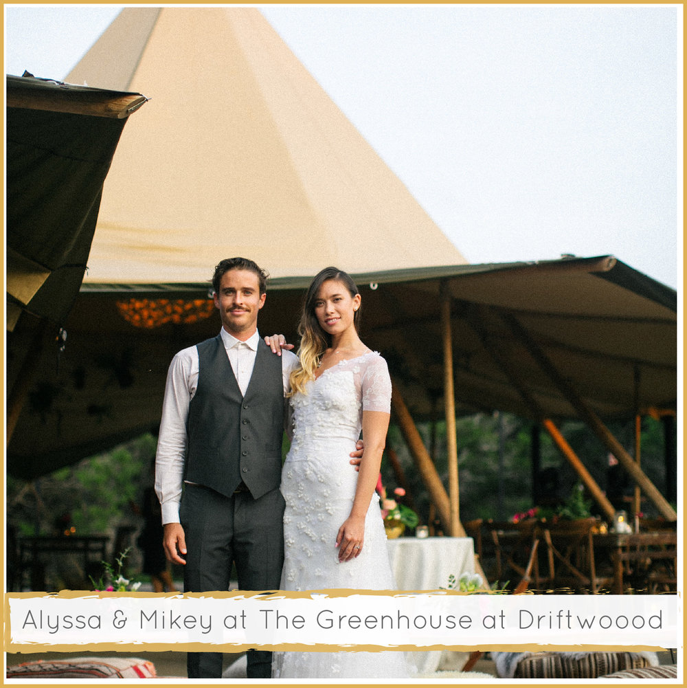 Greenhouse at Driftwood Teepee Wedding by Highland Avenue Events