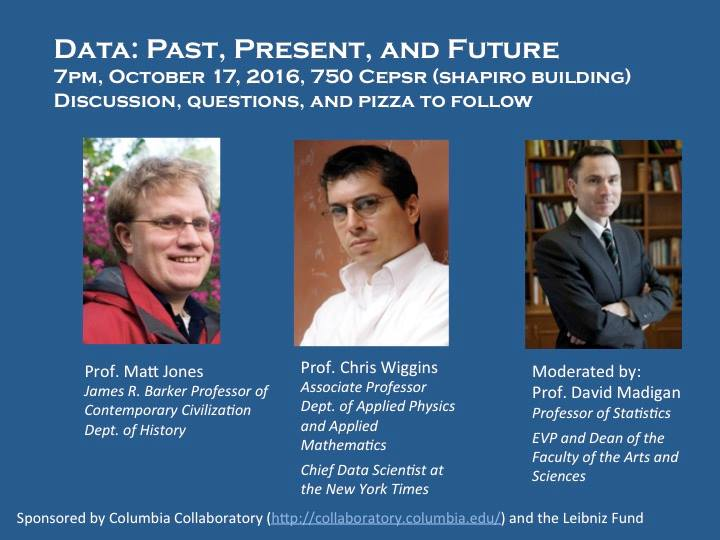 Data: Past, Present, and Future — Columbia Data Science Society