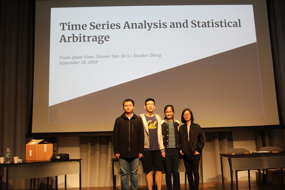 Black and White - 2nd PlaceTeam Members: Quan Yuan, Xiaowo Sun, Jie Li, Xiaofan ZhangImplemented a combination of machine learning, NLP, and time series to do feature engineering, predictive modelling, and designing an arbitrage strategy.