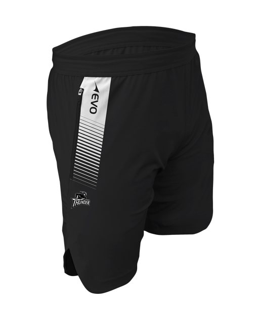 TeamPro Tech Training Short - FEATURES• Performance high filament woven construction. • Quick-Dri technology. • Permanent antibacterial treatment. • Two front invisible zip pockets.• Italian prints.