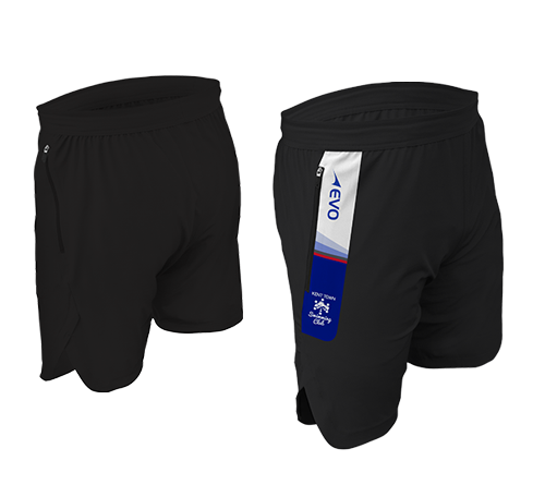 TeamPro Tech Training Short - FEATURESDesign meets technology with EVO's Tech Short featuring woven construction and invisible side zip pockets, keeping your valuables safe as you pound the running track or bang through another gruelling gym session.