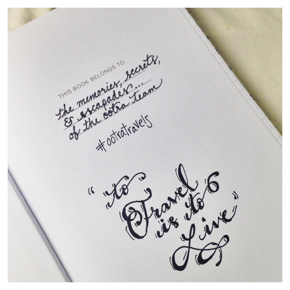 Travel Journal beginning