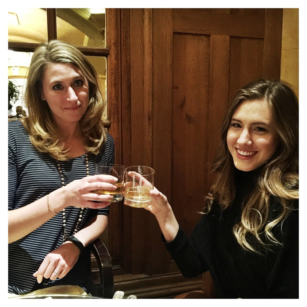 Toasting the beginning of their First Evening in Nashville!