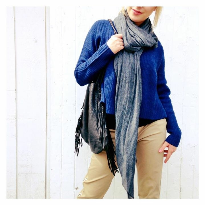 Wrap yourself with a delicious scarf and you have a COMPLETE look!