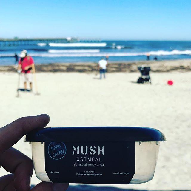 Wake up.  Eat MUSH.  Clean up your beach.  #dogood #becool @surfscreen_organics @ritualenergy @surfridersandiego