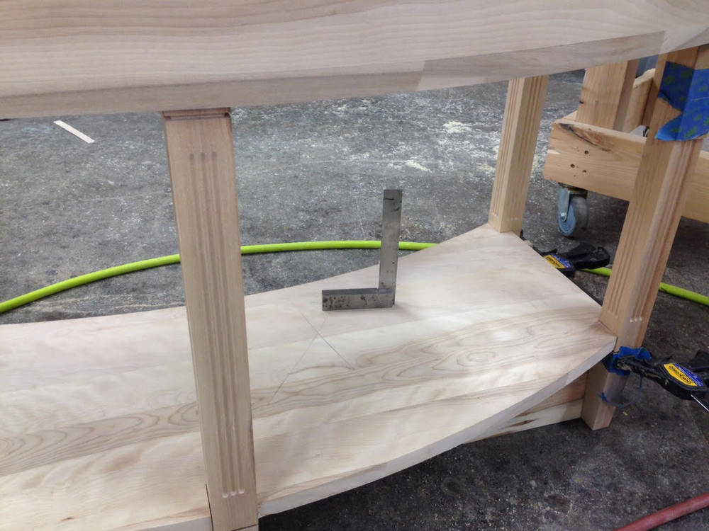 curved entry table frame