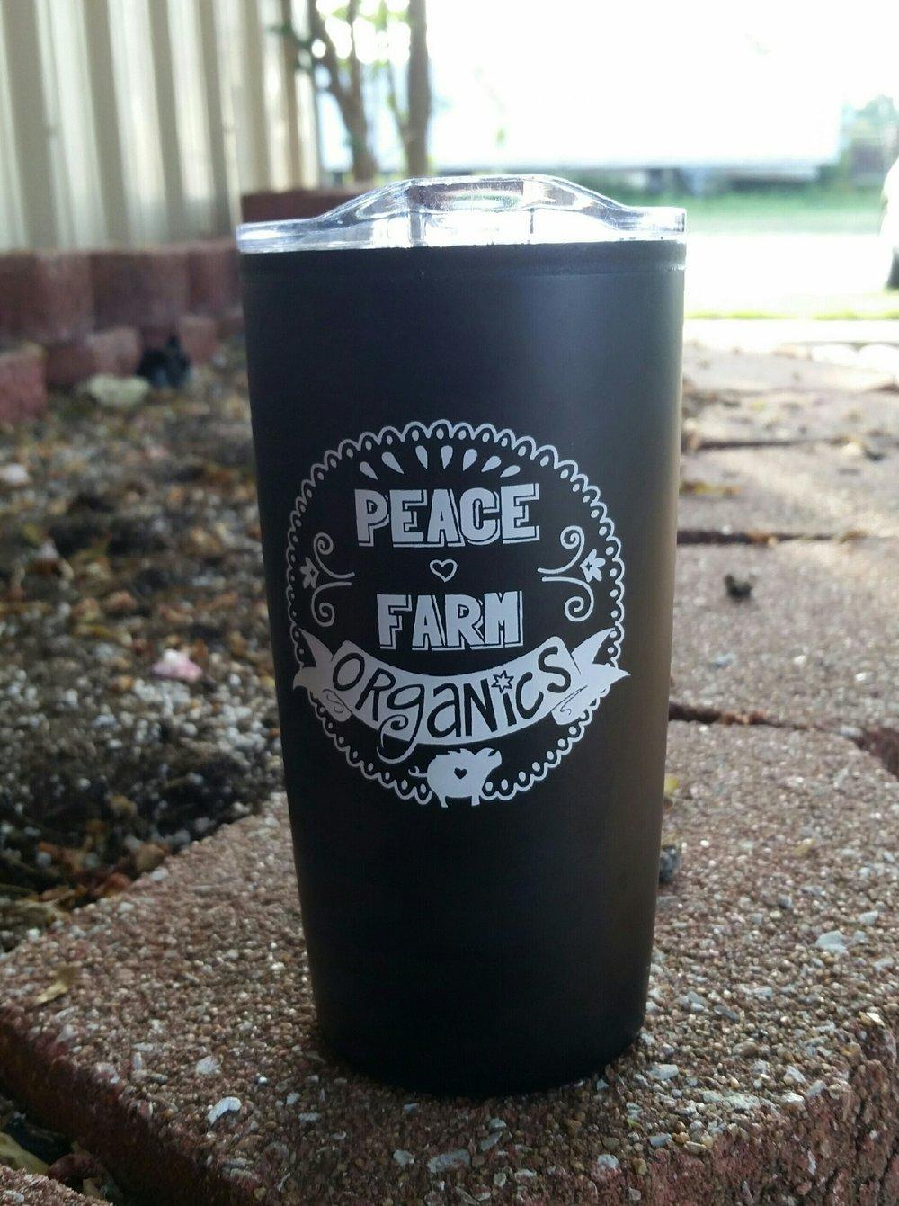 Peace Farm Promotional Tumbler (Non-organic material) - $19.99