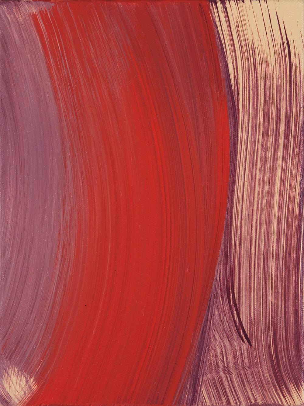 Red Swipe , 2014 oil on canvas 12 x 9 in.