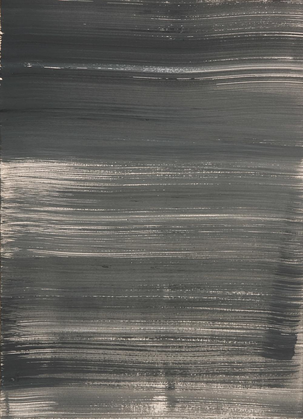 Schist 1 , 2011 casein on paper 15 x 11 in.