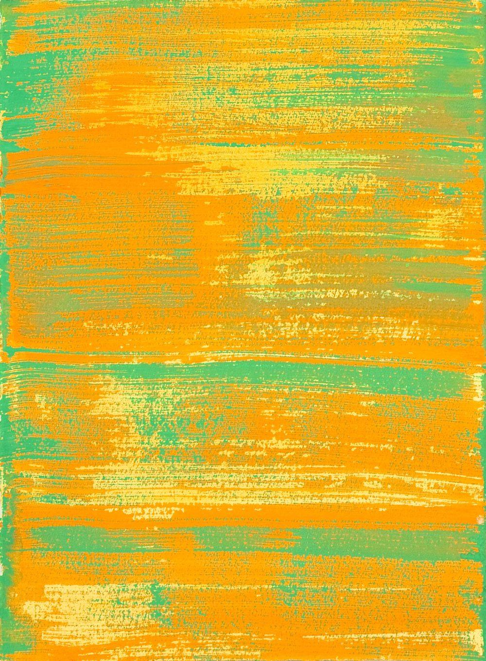 Schist 3 , 2011 casein on paper 15 x 11 in.