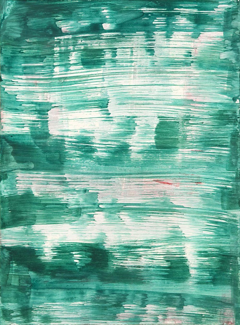 Schist 5 , 2011 casein on paper 15 x 11 in.