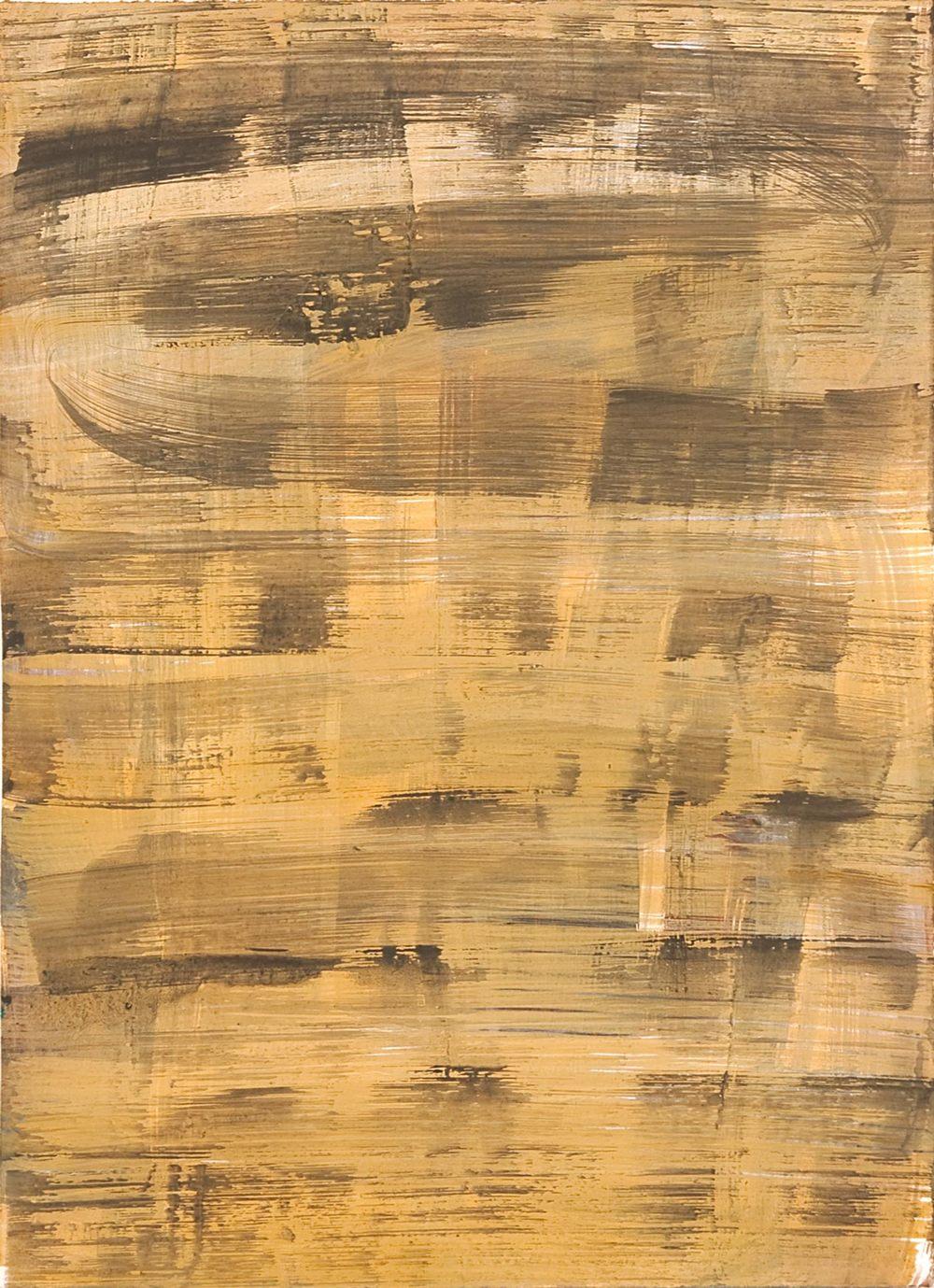 Schist 6 , 2011 casein on paper 15 x 11 in.