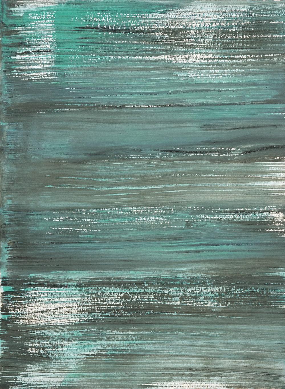 Schist 8 , 2011 casein on paper 15 x 11 in.