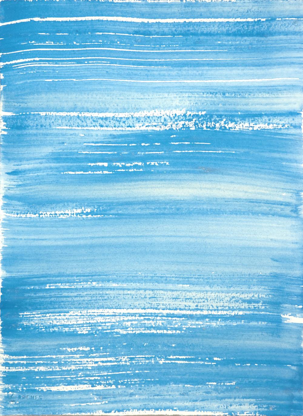 Schist 13 , 2011 casein on paper 15 x 11 in.