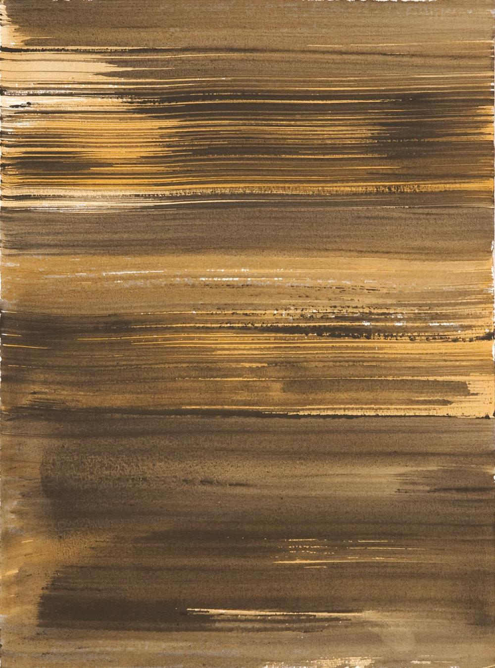 Schist 10 , 2011 casein on paper 15 x 11 in.