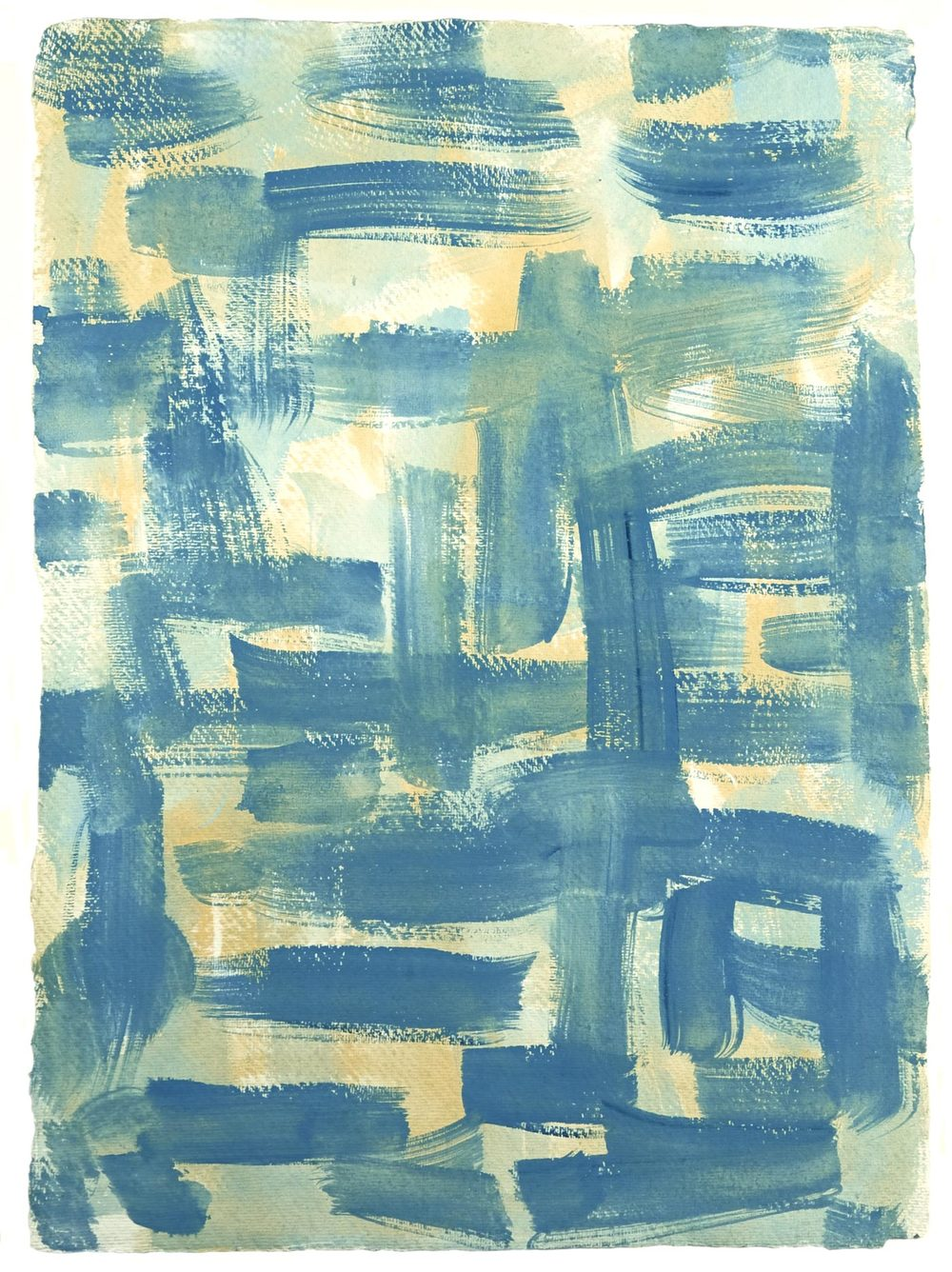 Nantucket 8 , 2011 casein on cotton rag paper 16.5 x 12.25 in.
