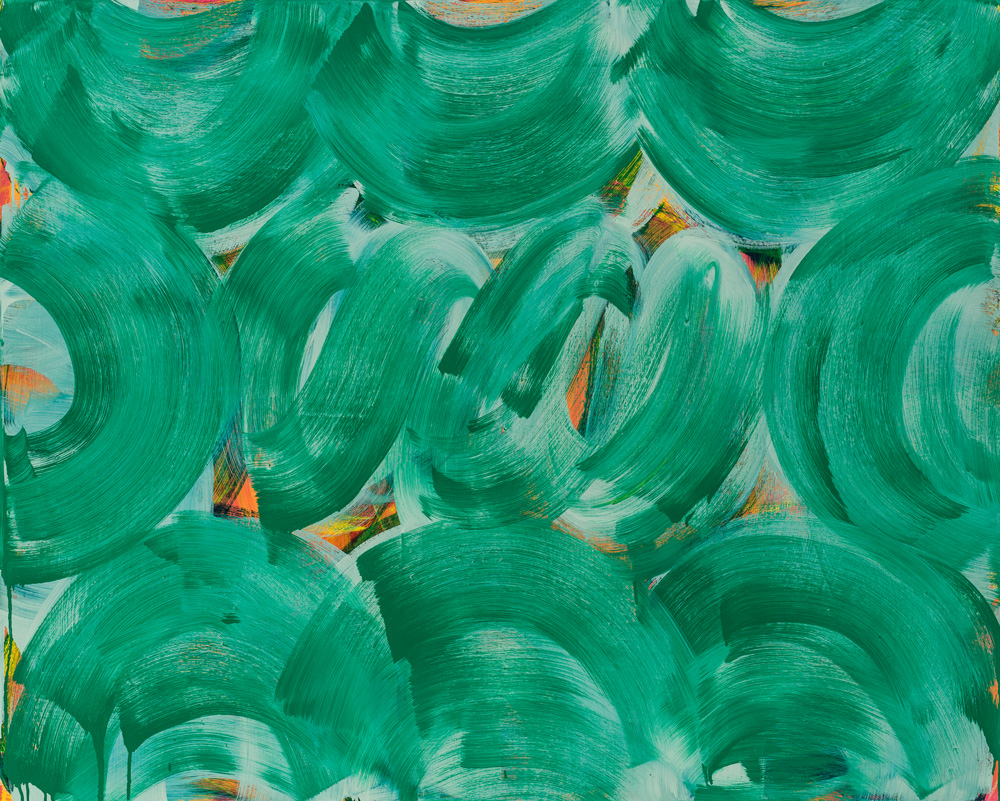 Green Whirl , 2016 oil on canvas 48 x 60 in.