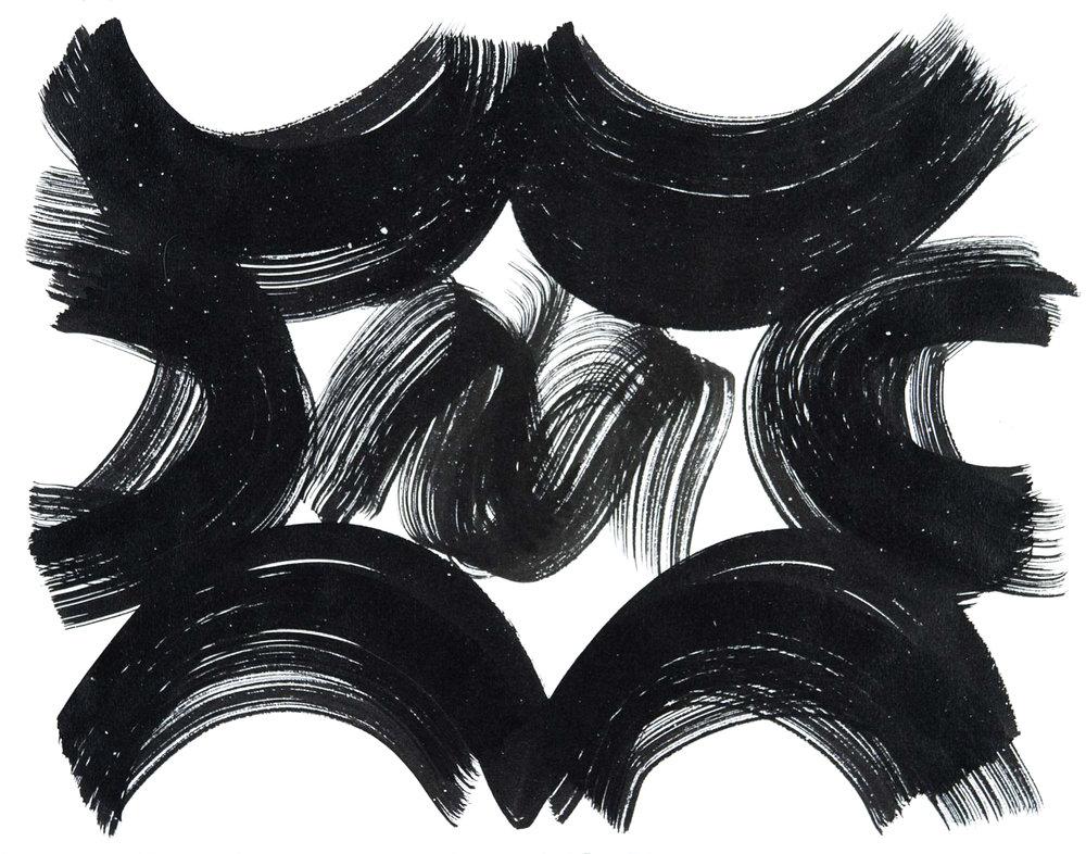 Vault 61 , 2016 Sumi ink on paper 12.6250 x 14.6250 in.