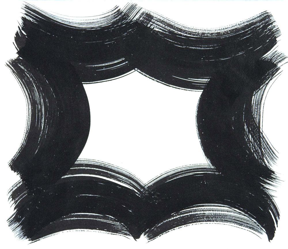 Vault 65 , 2016 Sumi ink on paper 12.6250 x 14.6250 in.
