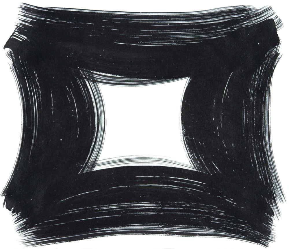 Vault 67 , 2016 Sumi ink on paper 12.6250 x 14.6250 in.