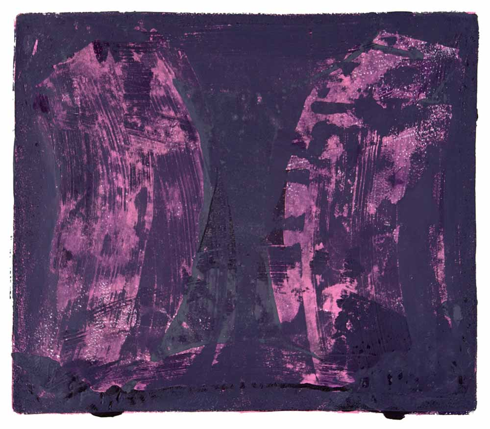 Ribs 2 , 2017 Monotype Image 12 x 14 in. Sheet 16 x 18 in.