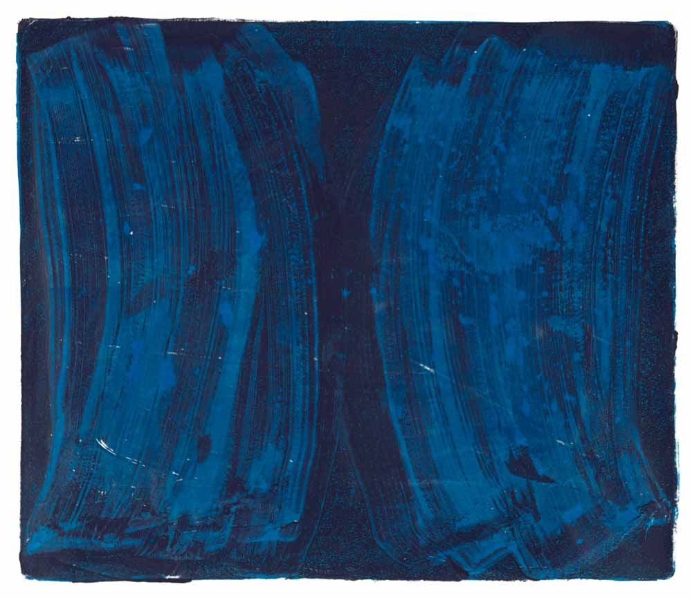Ribs 3,  2017 Monotype Image 12 x 14 in. Sheet 16 x 18 in.