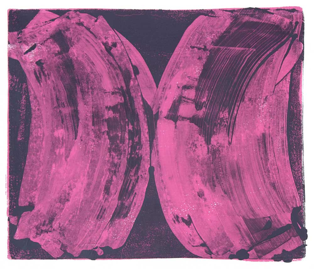 Ribs 1 , 2017 Monotype Image 12 x 14 in. Sheet 16 x 18 in.