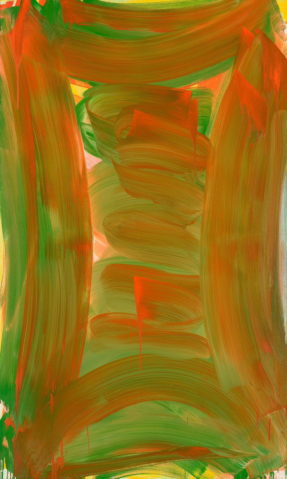 Tall Vault , 2015 oil on canvas 60 x 36 in.