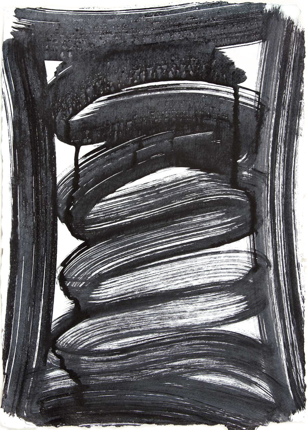 Vault 4 , 2015 Sumi ink on paper 16.5 x 11.75 in.