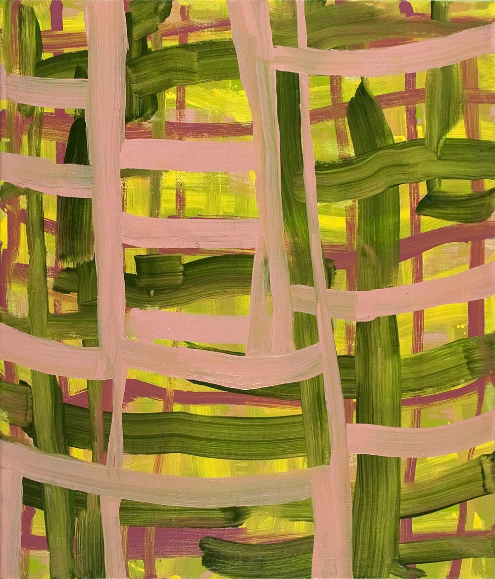 Urban Garden , 2010 oil on canvas 22 x 19 in.