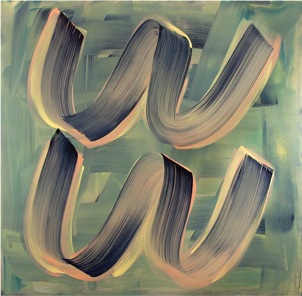 Double Dutch , 2019 oil on canvas 53 x 54 in.