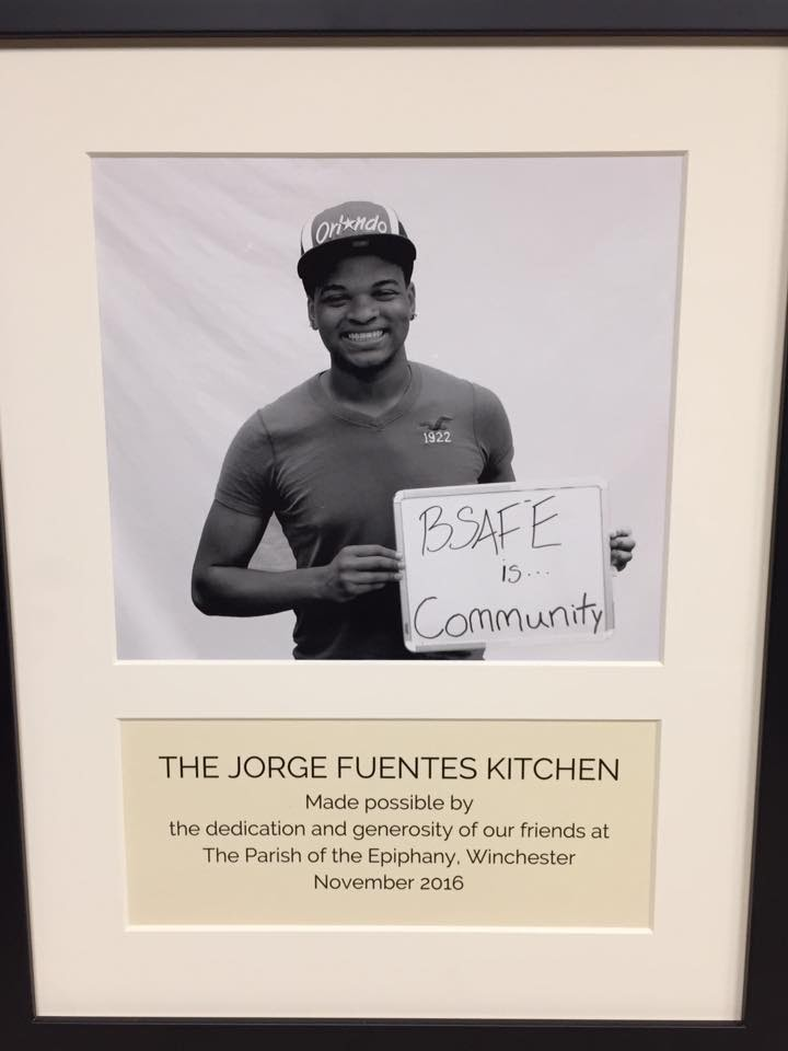 Our new kitchen is dedicated to Jorge Fuentes.