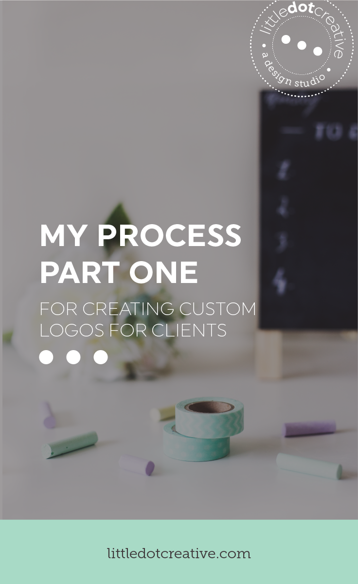 My process for creating custom logos for clients (part one) on www.littledotcreative.com