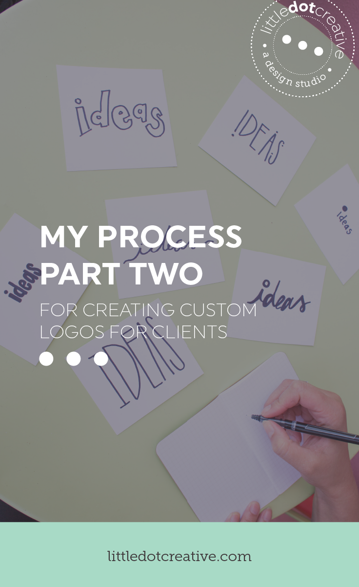 My process for creating custom logos for clients (part two) | on www.littledotcreative.com