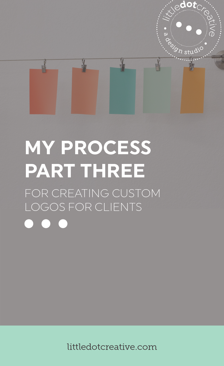 My process for creating custom logos for clients (part three revise and build out) | www.littledotcreative.com