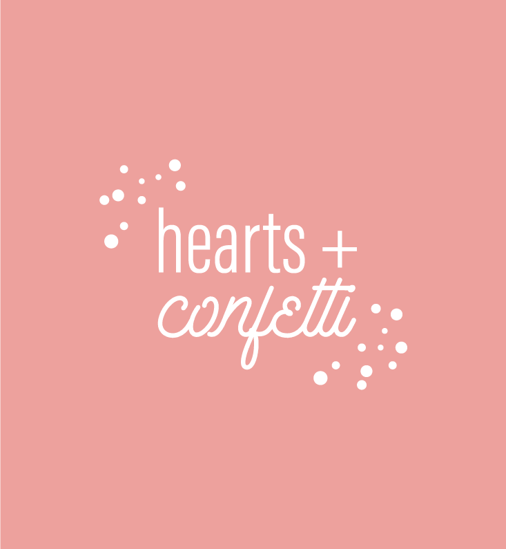 Hearts + Confetti Branding on Little Dot Creative