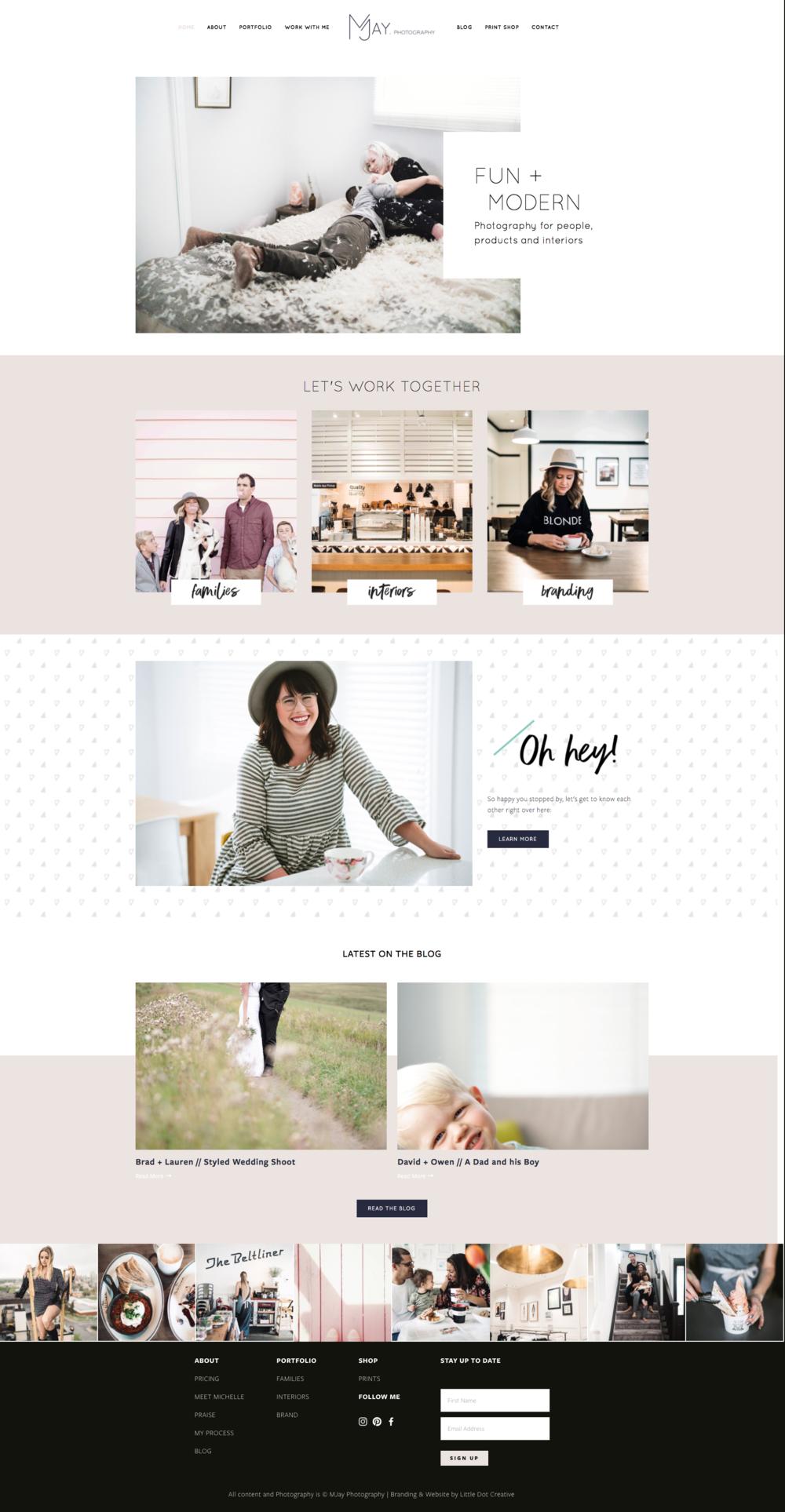 MJay Photography Branding + Website Design on Little Dot Creative