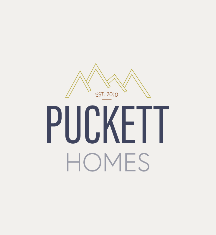 Puckett Homes Branding and Squarespace Website Design on Little Dot Creative