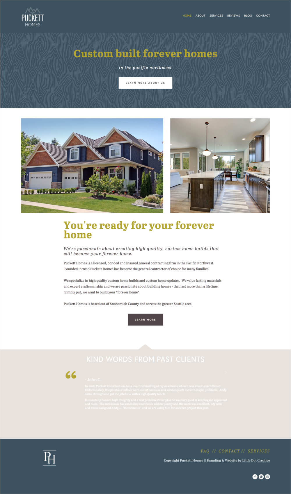 Branding & Website Design for Puckett Homes — Little Dot Creative