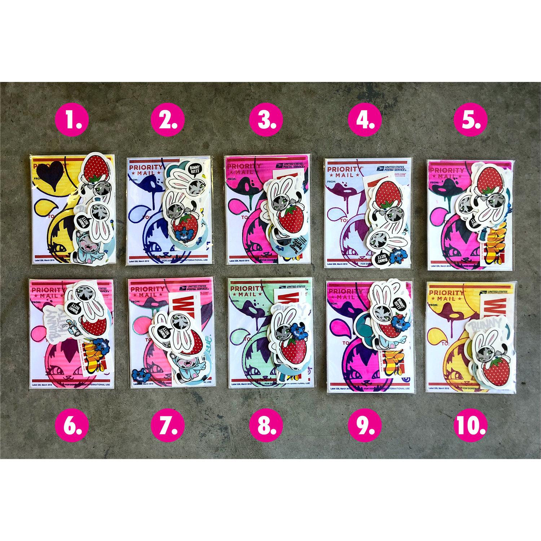 Bunnykitty x persue custom sticker packs bunnykitty
