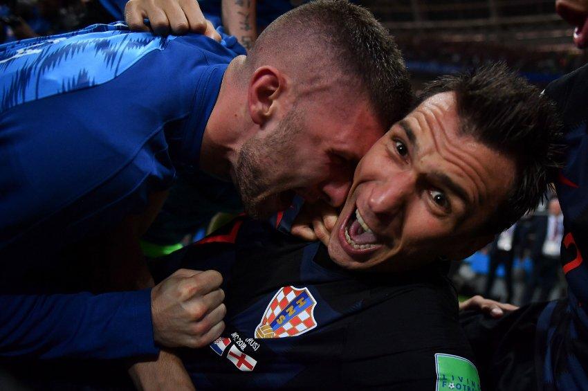 Pure Freude bei dem Torschützen. Das Foto von Yuri Cortez nach dem Siegtreffer von Mario Mandzukic.
